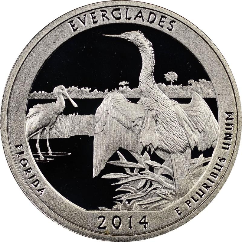 2014-S Silver Proof Everglades National Park Quarter