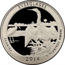 2014-S Proof Everglades National Park Quarter