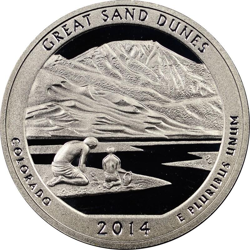 2014-S Silver Proof Great Sand Dunes National Parks Quarter