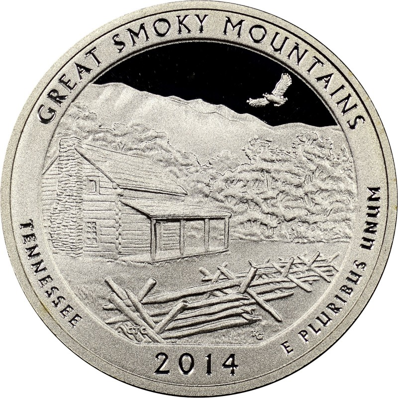 2014-S Silver Great Smoky Mountains National Parks Quarter Proof