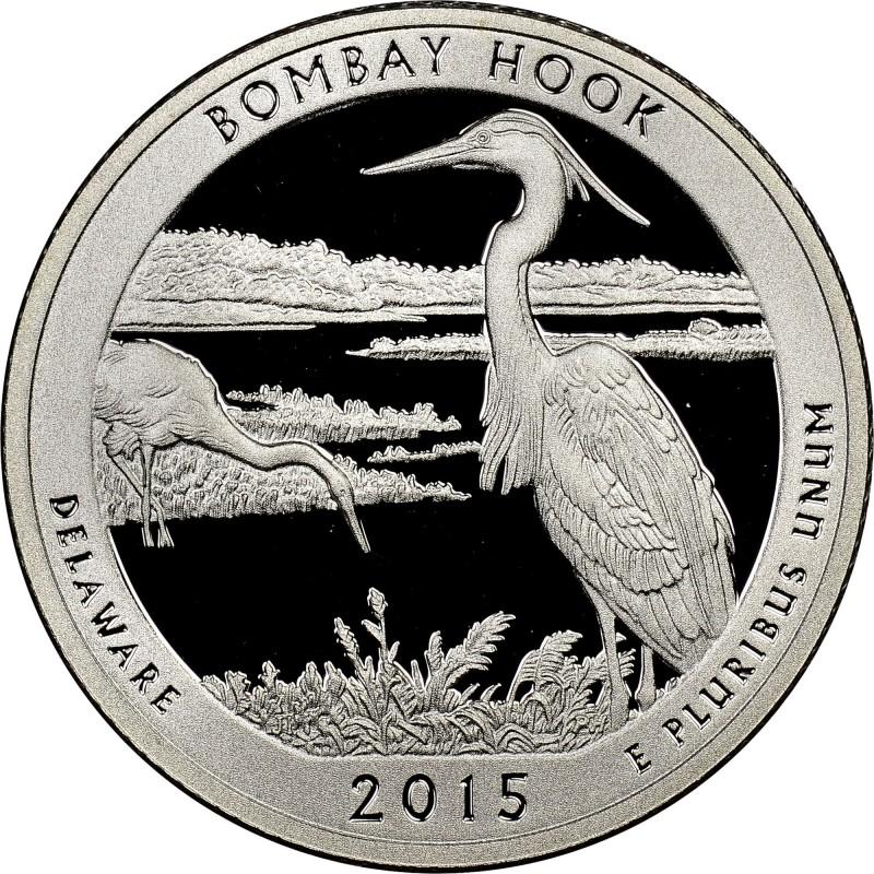 2015-S Silver Bombay Hook National Wildlife Refuge Proof Quarter