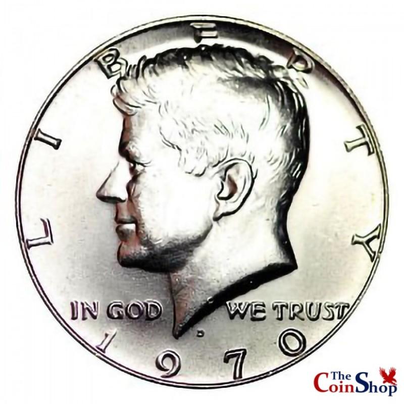1970-D Kennedy Half Dollar Key Date 40% Silver