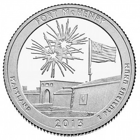 2013-S Proof Fort McHenry National Monument Quarter