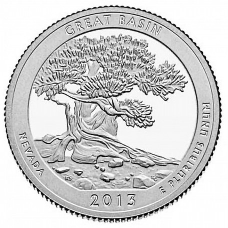 2013-S Proof Great Basin National Park Quarter
