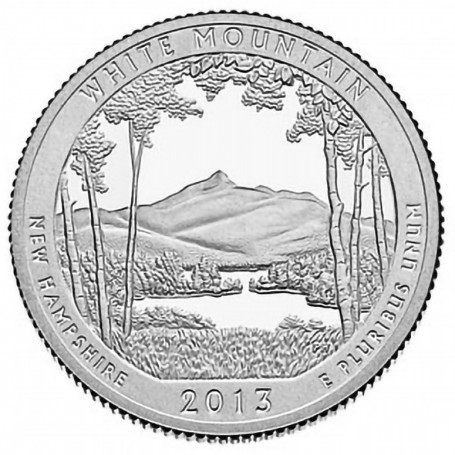 2013-S Proof White Mountain National Forest Quarter