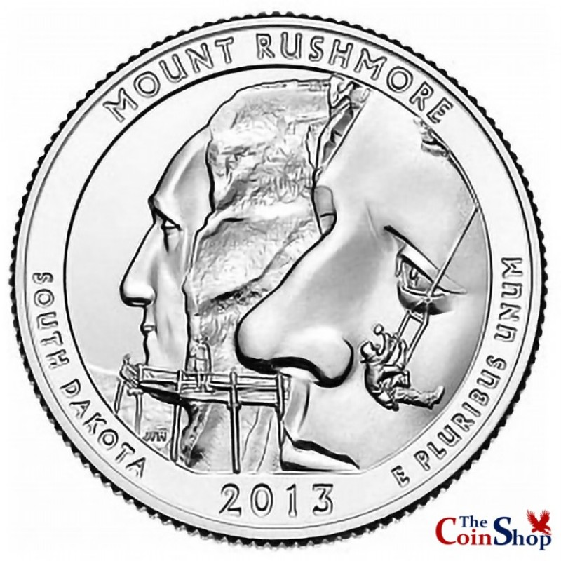 2013-P Mount Rushmore National Memorial Quarter