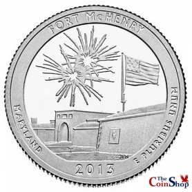 2013-S Silver Proof Fort McHenry National Monument Quarter