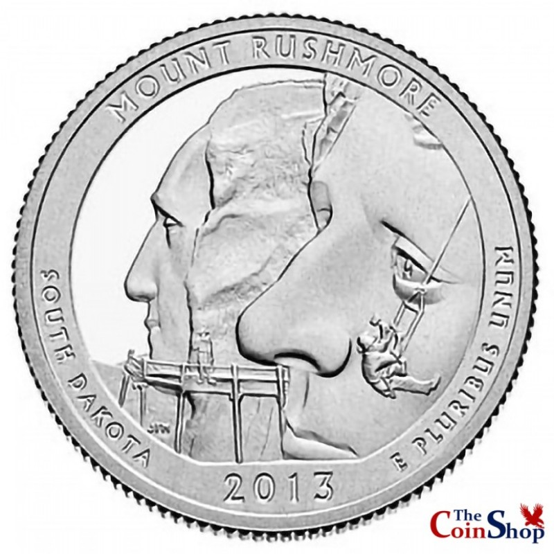 2013-S Silver Proof Mount Rushmore National Memorial Quarter