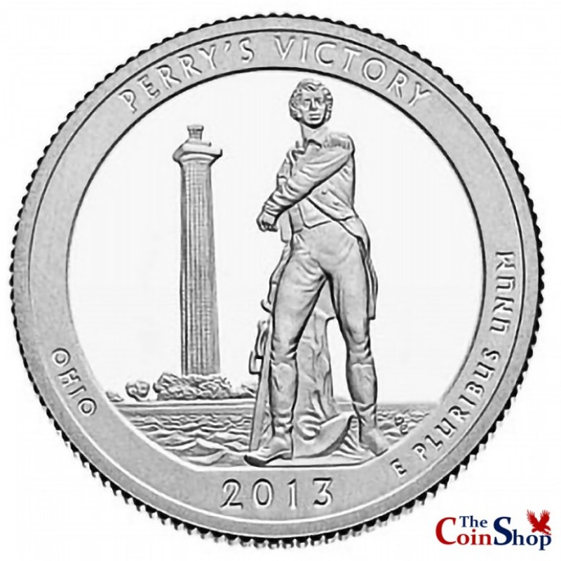 2013-S Silver Proof Perry's Victory and International Peace Memorial Quarter