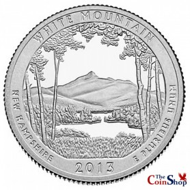 2013-S Silver Proof White Mountain National Forest Quarter