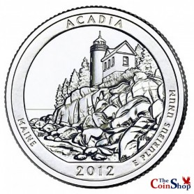 2012-D Acadia National Park Quarter