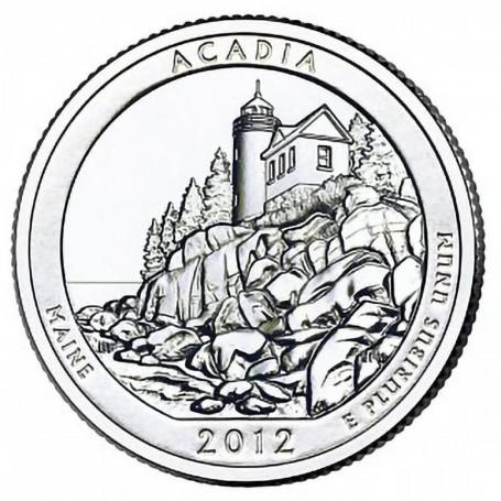 2012-P Acadia National Park Quarter
