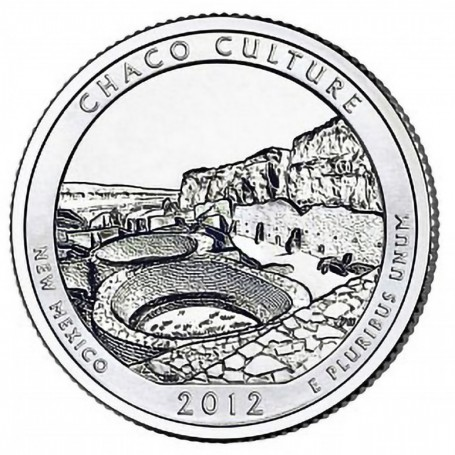 2012-P Chaco Culture National Historical Park Quarter