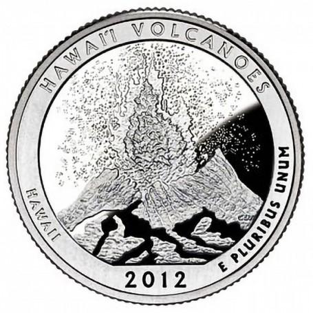 2012-S Proof Hawaii Volcanoes National Park Quarter