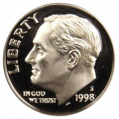 1998-S Silver Proof Roosevelt Dime