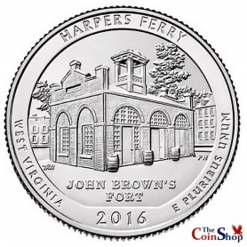 2016-P Harpers Ferry National Historical Park Quarter