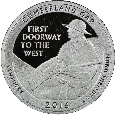 2016-S Silver Proof Cumberland Gap National Historical Park Quarter