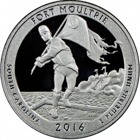 2016-S Silver Proof Fort Moultrie National Monument Quarter