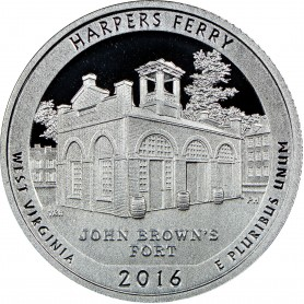 2016-S Silver Proof Harpers Ferry National Historical Park Quarter