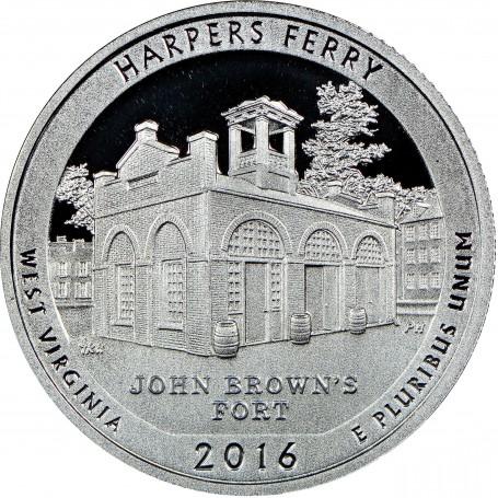 2016-S Silver Proof Harper's Ferry National Historical Park Quarter