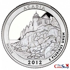 2012-S Silver Proof Acadia National Park Quarter