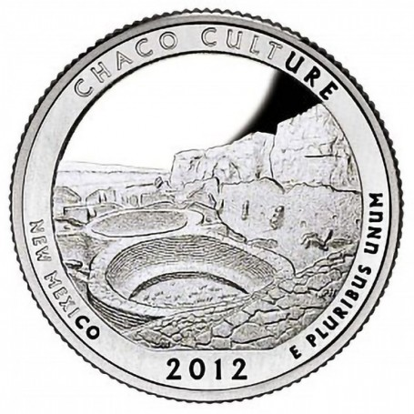 2012-S Silver Proof Chaco Culture National Historical Park Quarter
