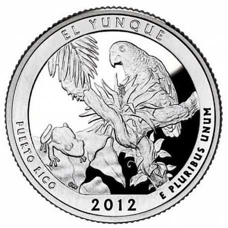 2012-S Silver Proof El Yunque National Forest Quarter