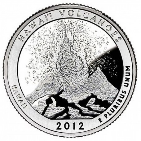 2012-S Silver Proof Hawaii Volcanoes National Park Quarter