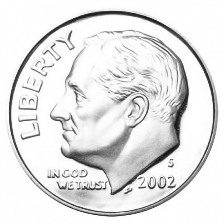 2002-S Silver Proof Roosevelt Dime