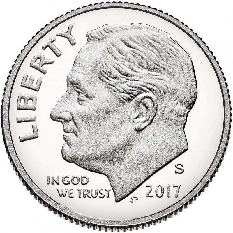 2017-S Silver Proof Roosevelt Dime