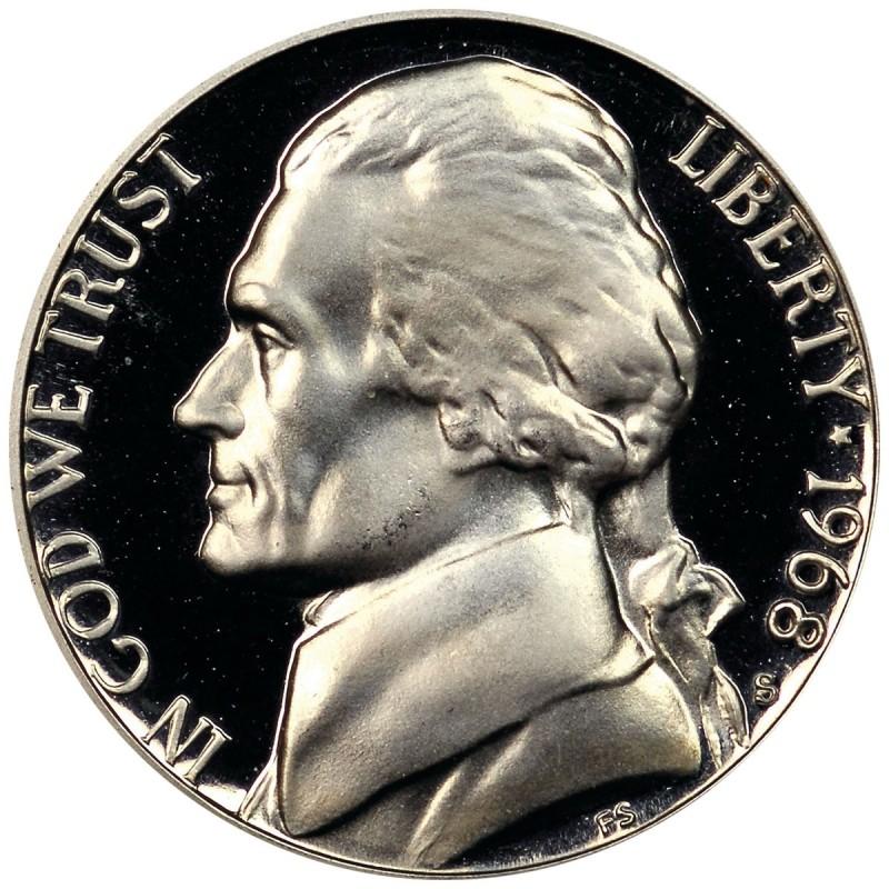 1968-S Jefferson Nickel Proof
