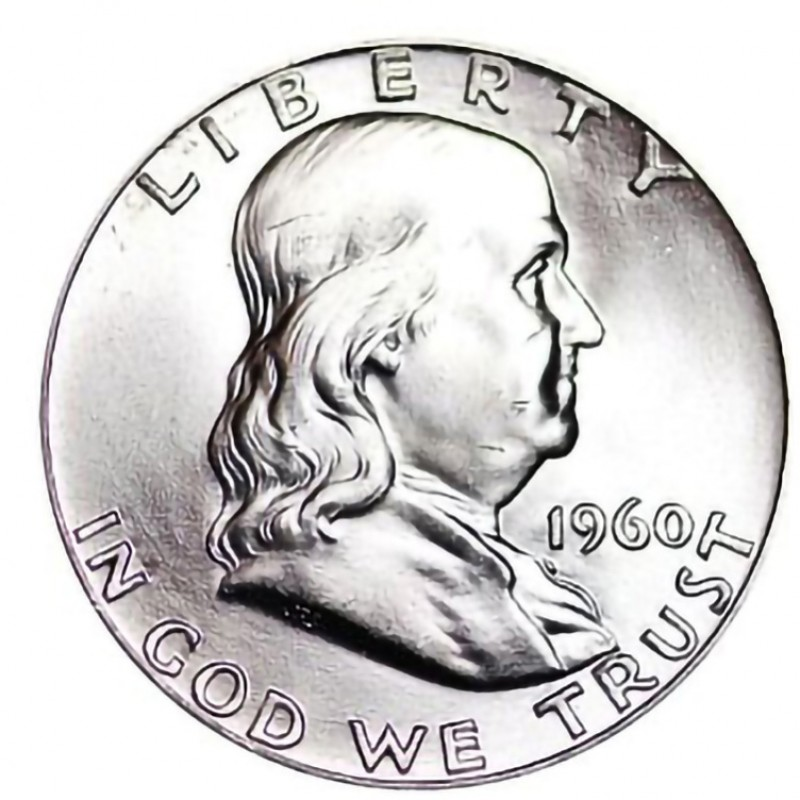 1960-P Franklin Half Dollar