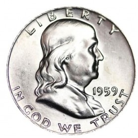 1959-P Franklin Half Dollar
