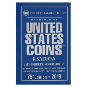 2019 Blue Book, Handbook of US Coins Hardcover