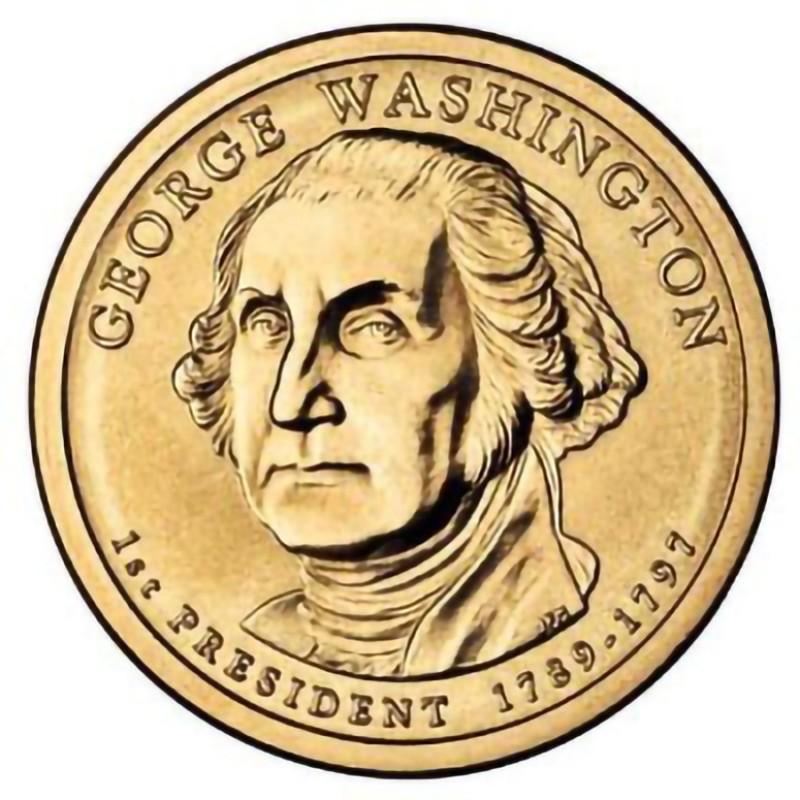 2007 P Presidential Dollar George Washington Choice BU Clad US Coin