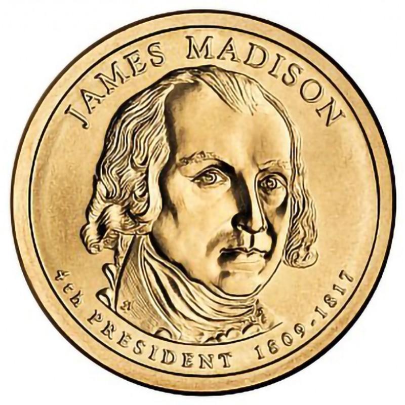 2007-D James Madison Presidential Dollar