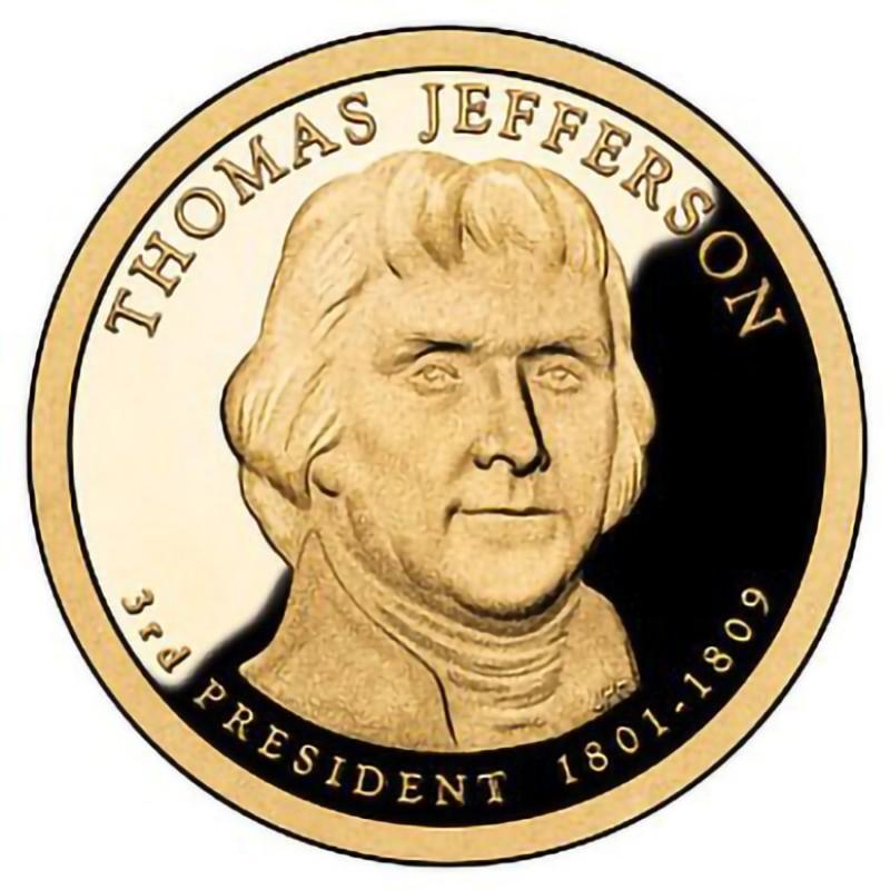 2007-S Thomas Jefferson  Presidential Dollar