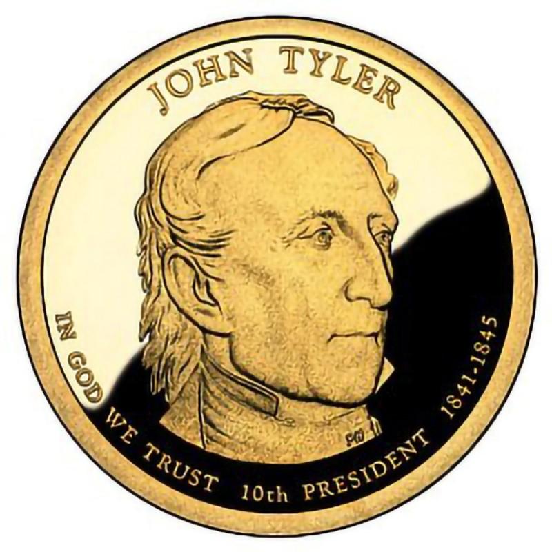 2009-S John Tyler Presidential Dollar