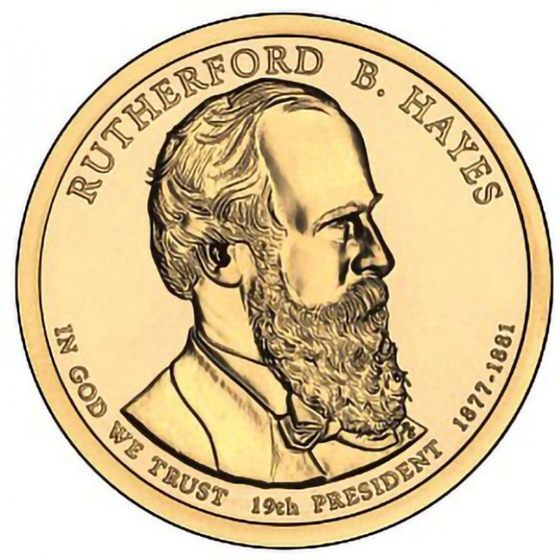 2011-P Rutherford B Hayes Presidential Dollar