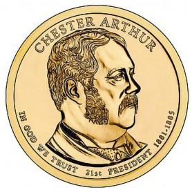 2012-D Chester Arthur Presidential Dollar