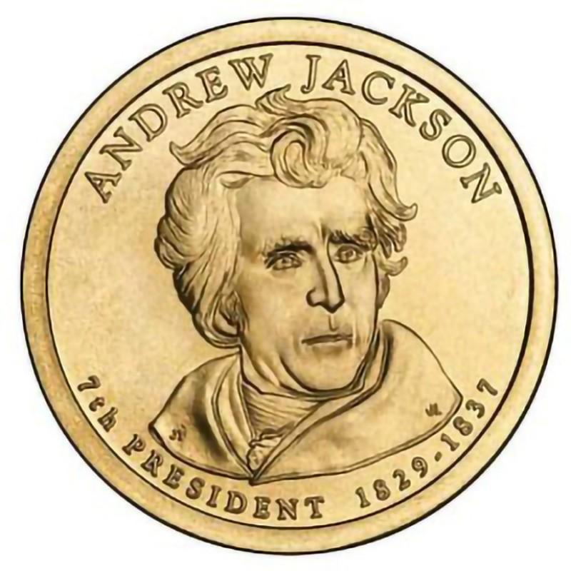 2008-P Andrew Jackson Presidential Dollar