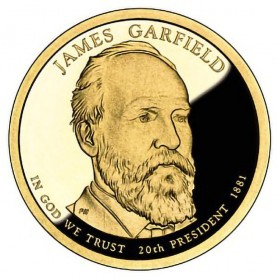 2011-S James A Garfield Presidential Dollar