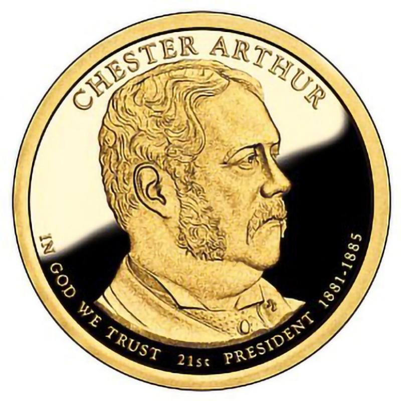 2012-S Chester Arthur Presidential Dollar
