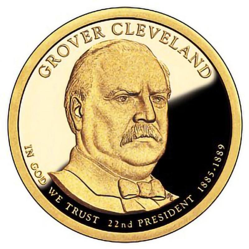 2012-S Grover Cleveland 1st Term Presidential Dollar