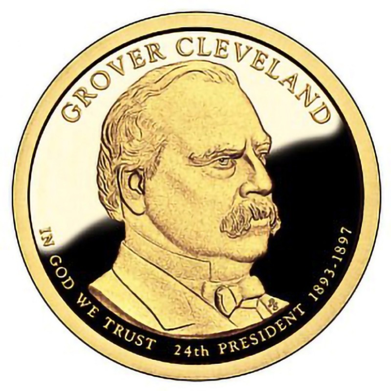 2012-S Grover Cleveland 2nd Term Presidential Dollar