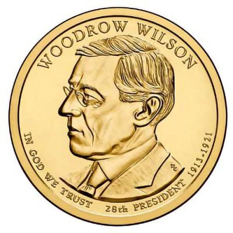 2013-D Woodrow Wilson Presidential Dollar