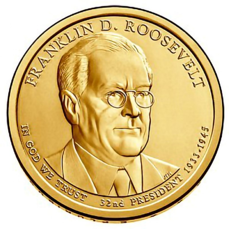 2014-D Franklin D Roosevelt Presidential Dollar