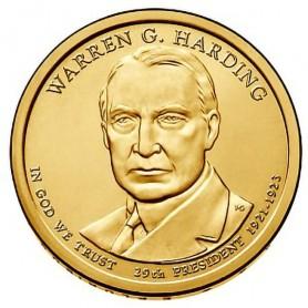 2014-D Warren G Harding Presidential Dollar