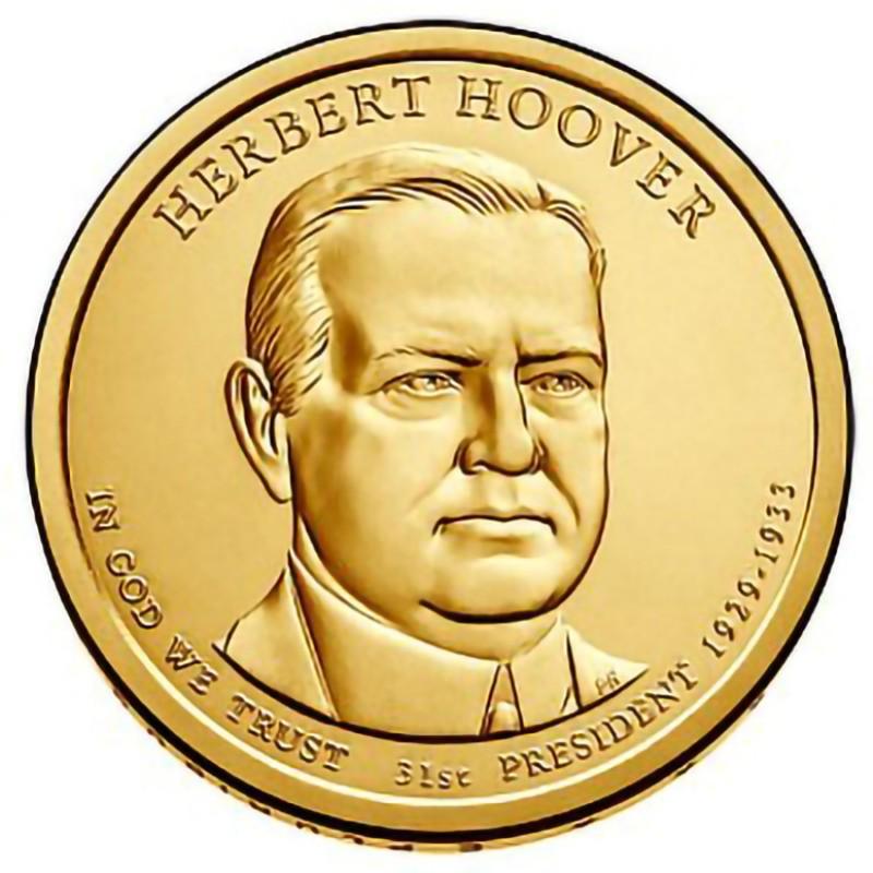 2014-P Herbert Hoover Presidential Dollar