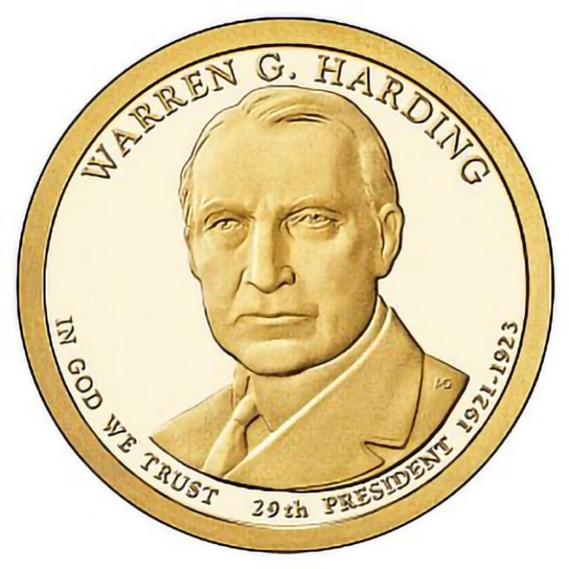 2014-S Warren G Harding Presidential Dollar